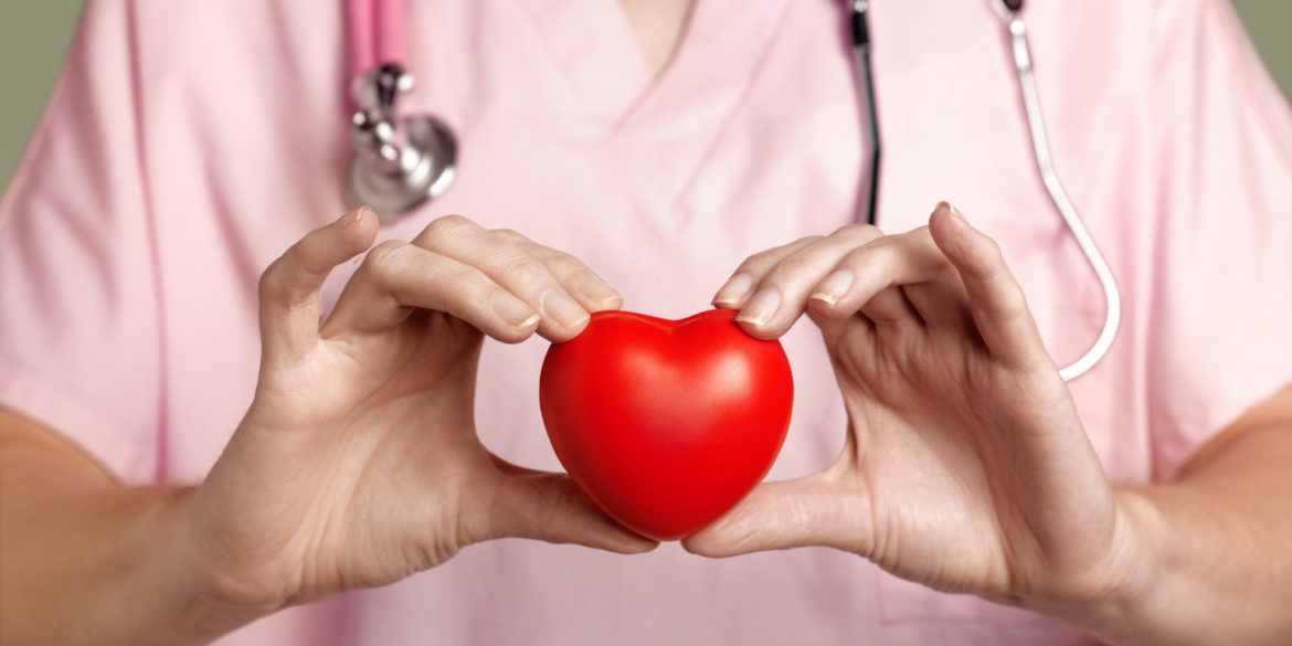 Cardiologist with heart